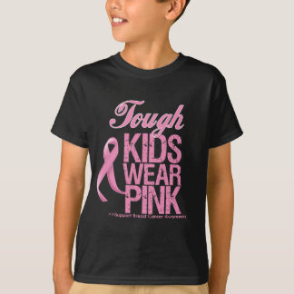 Tough Kids Wear Pink Cool Breast Cancer Shirts