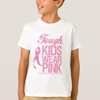Tough Kids Wear Pink Cool Breast Cancer Tees