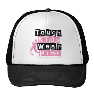 Tough Kids Wear Pink For Breast Cancer Awareness Mesh Hat