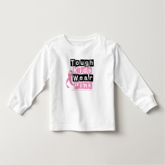 Tough Kids Wear Pink For Breast Cancer Awareness T-shirts