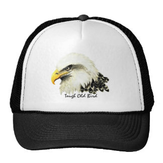 Tough Old Bird Fun Quote Bald Eagle Painting Cap