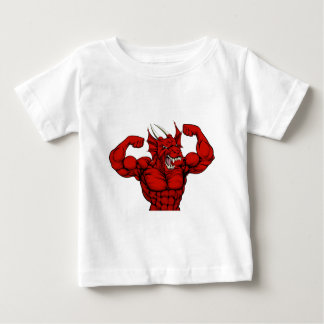Tough Red Dragon Mascot Baby T-Shirt