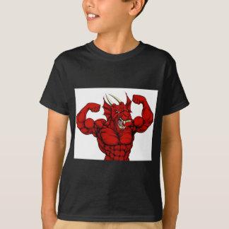 Tough Red Dragon Mascot T-Shirt