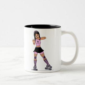 Tough Roller Girl mug