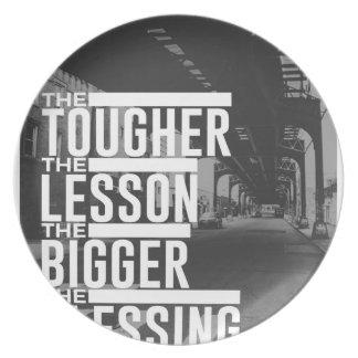 Tougher Lesson Bigger Blessing Plate