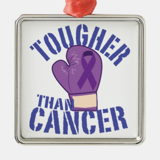 Tougher Than Cancer Metal Ornament