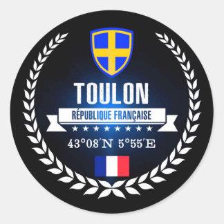 Toulon Classic Round Sticker