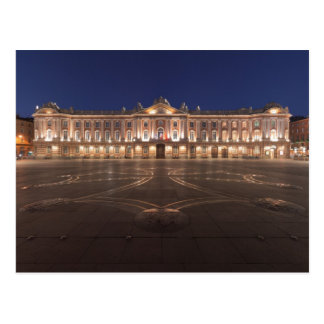 Toulouse Capitole Night Postcard