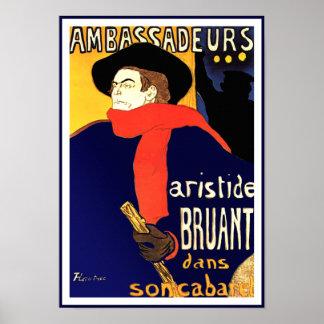 Toulouse Lautrec Ambassadeurs Aristide Bruant Posters