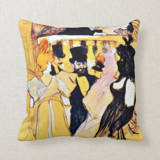 Toulouse-Lautrec art: At the Opera Cushion
