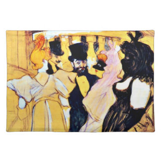 Toulouse-Lautrec art: At the Opera Placemat