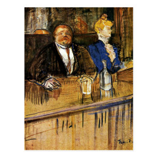 Toulouse-Lautrec - At the Cafe, the Customer Postcard