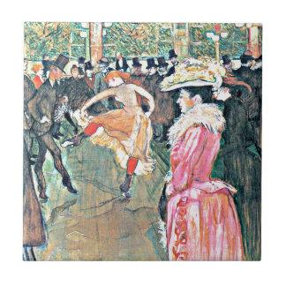 Toulouse-Lautrec: At the Rouge Ceramic Tile