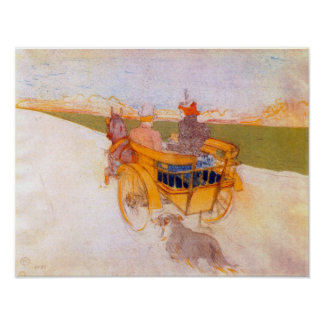Toulouse-Lautrec - Carriage with Dog Poster