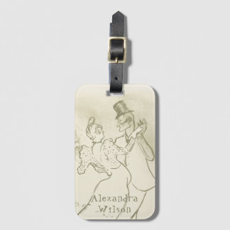 Toulouse Lautrec - Dancing couple | Personalized Luggage Tag