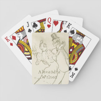 Toulouse Lautrec - Dancing couple | Personalized Playing Cards