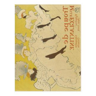Toulouse-Lautrec, Henri de Troupe de Mlle Eleganti Postcard