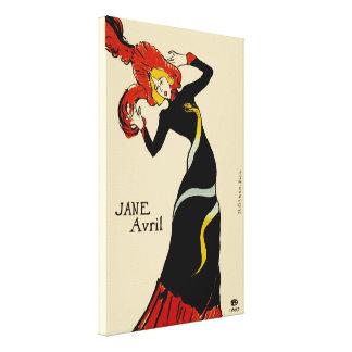 Toulouse LAUTREC Jane April Canvas REDUX Edition Gallery Wrap Canvas