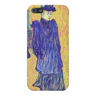 Toulouse-Lautrec - Jane Avril leaves the Ro iPhone 5 Cover