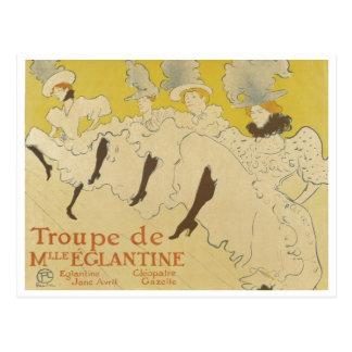 Toulouse Lautrec- La Troupe de Mlle Eglantine 1895 Postcards