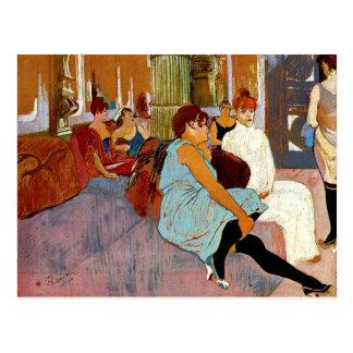 Toulouse-Lautrec - The Salon in the Rue des Moulin Postcard
