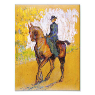 Toulouse-Lautrec Woman on Horse Photo Print