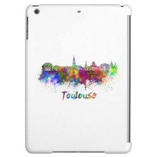 Toulouse skyline in watercolor