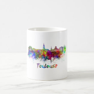 Toulouse skyline in watercolor coffee mug