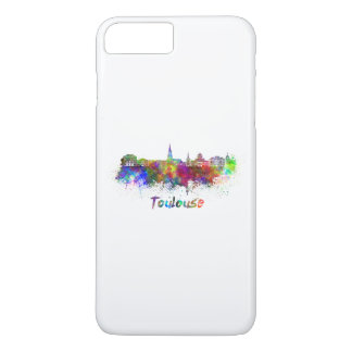 Toulouse skyline in watercolor iPhone 8 plus/7 plus case