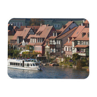 Tour boat in Little Venice and River Regnitz Magnet