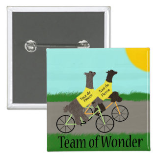 Tour de Fleece Team of Wonder 15 Cm Square Badge