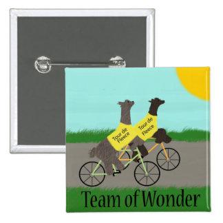 Tour de Fleece Team of Wonder 15 Cm Square Badge