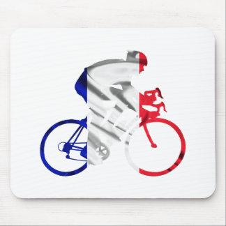 Tour de france cyclist mouse pad