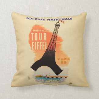 Tour Eiffel loterie nationale Cushion