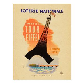 Tour Eiffel loterie nationale Postcard