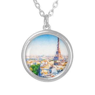 Tour Eiffel - Paris Silver Plated Necklace