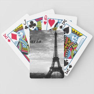 Tour Eiffel Paris - Sunset in Black & White (St.K) Bicycle Playing Cards