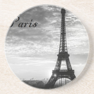 Tour Eiffel Paris - Sunset in Black & White (St.K) Drink Coasters