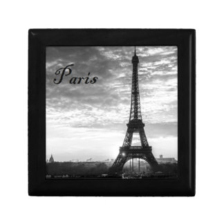 Tour Eiffel Paris - Sunset in Black & White (St.K) Small Square Gift Box