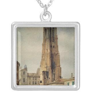 Tour Saint-Jacques Silver Plated Necklace