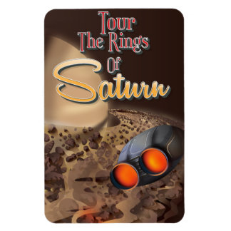 Tour the rings of Saturn Travel poster. Magnet