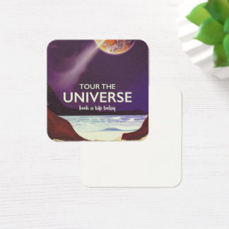 Tour the Universe vintage science fiction poster Square Business Card