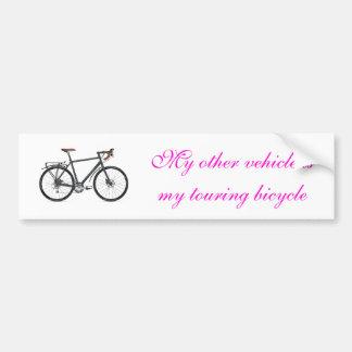 Touring bike bumper sticker