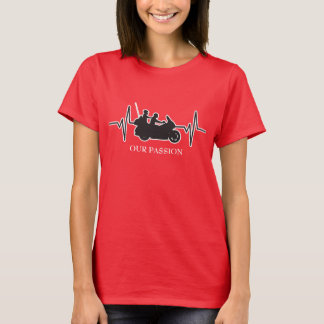 Touring Motorcycle - Our Passion Heartbeat T-Shirt