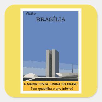 Tourism in Brasilia Square Sticker