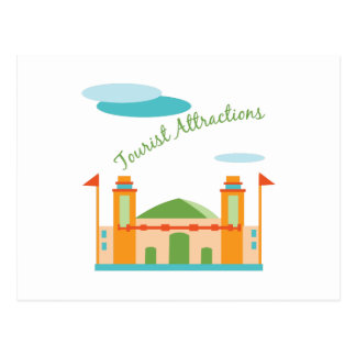 Tourist Attractions Postcard