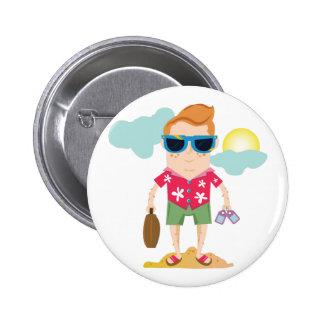 Tourist 6 Cm Round Badge