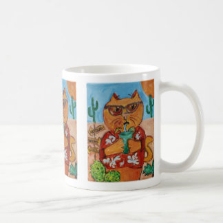Tourist Funny Folk Art Cat Coffee Mug