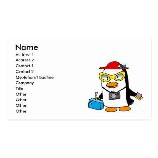tourist penguin business card template