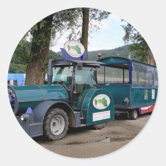 Tourist Shuttle train, Durnstein, Austria Classic Round Sticker